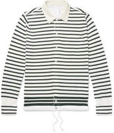 Sacai - Shell-trimmed Striped Cotton Cardigan