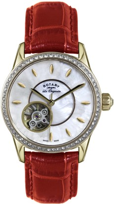 Rotary Womens Analogue Automatic Watch with Leather Strap LS90513/41