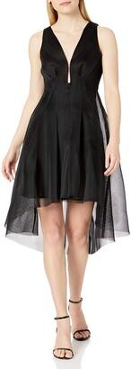 Elliatt Women's Apparel Women's Jewel Plunging Vneck MESH FIT & Flare Party Dress