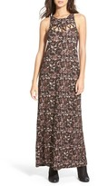 RVCA Tied Up Print Maxi Dress