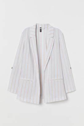 H&M Creped Cotton Jacket - Beige