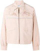 Visvim logo embroidered bowling jacket - men - Japanese Paper/Cotton - 3