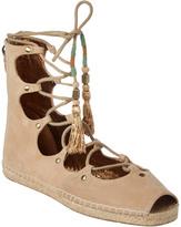 Cynthia Vincent Palace Suede Lace-Up Sandal