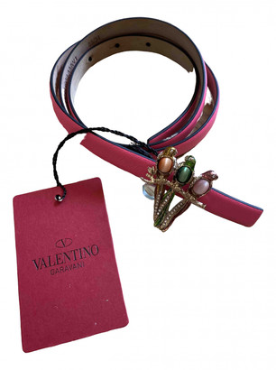 Valentino Pink Leather Belts