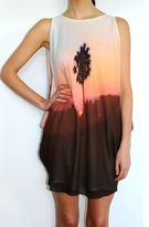 Palm Placement Cascade Dress