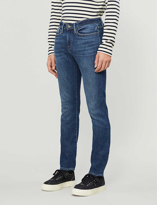 Frame L'Homme tapered skinny stretch-denim jeans