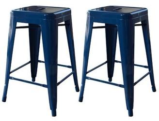 "Trent Austin Design Racheal 24"" Counter Stool Trent Austin Design Color: Blue"