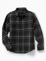 Old Navy Built-In Flex Textured Flannel Shirt for Boys