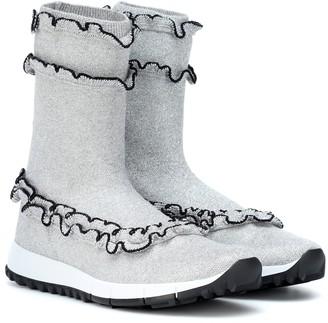 Jimmy Choo Eugene ruffle ankle boots