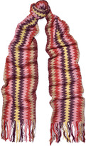 Missoni Fringed crochet-knit cotton-blend scarf
