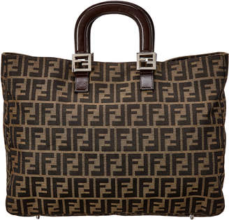 Fendi Brown Zucca Coated Canvas Large Tote