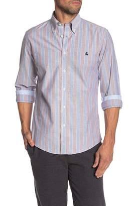 Brooks Brothers Trim Fit Bold Stripe Dress Shirt
