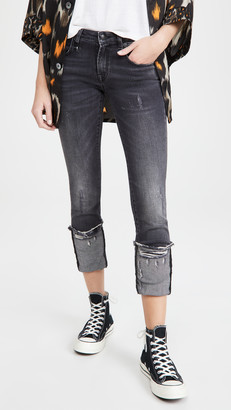R 13 Kate Skinny Jeans with Cuff