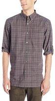 John Varvatos Men's Rolled Sleeve Shirt with Button Down Collar
