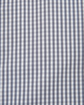 English Laundry Micro-Check Spread-Collar Dress Shirt, Gray