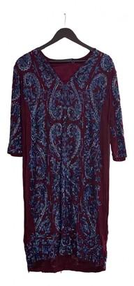 Antik Batik Burgundy Silk Dress for Women