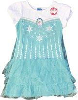 Disney Frozen Girls Princess Elsa Dress With Detachable Cape