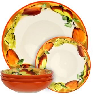 Elama Fruitful Bounty 5-Piece Pasta Serving Bowl Set