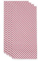 Candy Cane Stripe Napkins in Red/White (Set of 4)