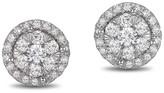 Effy Jewelry Effy Bouquet 14K White Gold Diamond Halo Cluster Earrings, 0.63 TCW