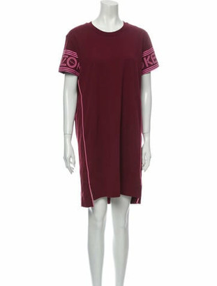 Kenzo Crew Neck Mini Dress w/ Tags