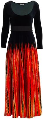 Proenza Schouler Tie-Dye Velvet Maxi Dress