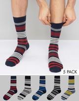 Jack and Jones 5 Pack Patterned Socks