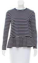 Mother of Pearl Striped Long Sleeve Top