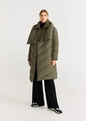 MANGO Detachable vest anorak khaki - XXS-XS - Women