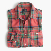 J.Crew Slim midweight flannel shirt in lodge orange plaid