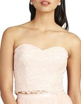 Donna Morgan Adeline Strapless Cropped Lace Bustier