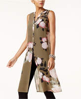 INC International Concepts Printed Sheer Tunic, Created for Macy's