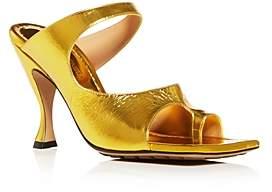 Bottega Veneta Women's D'Orsay High-Heel Slide Sandals