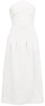 Roland Mouret Saranda Chevron-quilted Crepe Dress - White