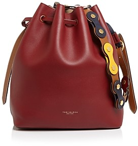 Tory Burch Caroline Medium Leather Bucket Bag