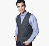 Johnston & Murphy Quilted Tailored Vest