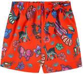 Stella Jean Printed poplin shorts