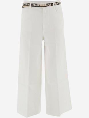 Stella McCartney White Cotton Denim Women's Cropped Jeans