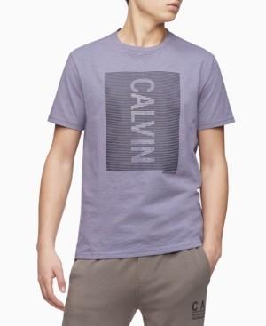 Calvin Klein Men's Hd Line Logo Crewneck Polo Shirt