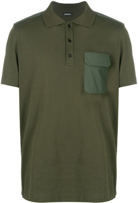 Diesel Panelled Polo Shirt