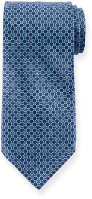 Stefano Ricci Medium-Circle Printed Silk Tie