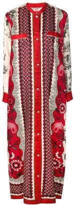 F.R.S For Restless Sleepers mixed print shirt dress
