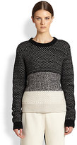 Proenza Schouler Wool, Cashmere & Silk Colorblock Sweater