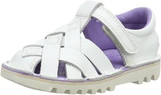 Kickers Girls Kick Weave Closed-Toe Sandals White (White) 8.5 UK 26 EU