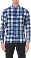 Diesel S-oasis cotton-blend plaid shirt