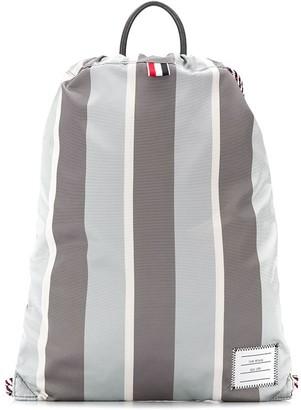 Thom Browne Striped Drawstring Backpack