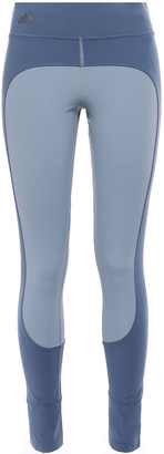 adidas by Stella McCartney + Adidas Two-tone Printed Stretch Stirrup Leggings