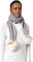 Jocelyn Scarf with Fox Pom Poms