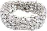 FANTASIA JEWELRY Multi Row Cubic Zirconia Bracelet