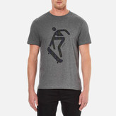 Carven Men's Skateboard Print Short Sleeve TShirt - Gris Chine Fonce